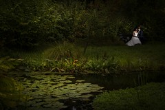 Wedding (siebe ) Tags: 2016 nederland bruidsfotografie bruiloft marriage trouwen wedding photography holland netherlands bruidsreportage dutch trouwdag trouwreportage weddingday outdoor bruidspaar bride groom couple lovers love garden dark