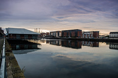 8 Good Morning (daedmike) Tags: sunrise dundeecityquay dundee scotland tay clouds docks flats oilrigs reflection mirror tayside