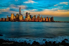 End of summer 2016  in New York City.. (mitzgami) Tags: inexplore fall autumn summer sunset skyline building lowermanhattan manhattan newjersey jerseycity photography river nikonphotography flickr nikon longexposure landscape travel hudsonriver nyc newyorkcity oneworldtrade onewtc