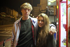Iwan and Daniella (I M Roberts) Tags: portrait teenagers nightscene homerton lowerclapton e5 fujix100s london hackney