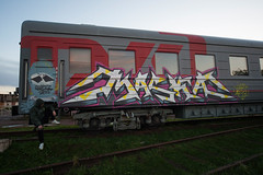 train bombing (livecitizen) Tags: trainbombing art street graffity vandals writers painting spb tag