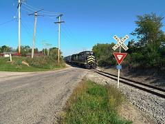 Indiana Northeastern approaching Hamilton Indiana (Matt Ditton) Tags: indiana northeastern shortline train railroad hamilton