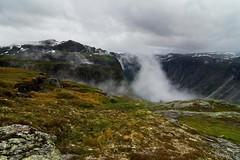 Ambushed by clouds (Gruvtroll) Tags: mountains berg norway fog clouds landscape norge hiking adventure hardanger landskap moln trolltunga