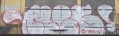 Mes (Skyline Crony) Tags: street art bench graffiti paint streak tag boxcar piece burner bomb mes freight krylon autorack rusto ironlak