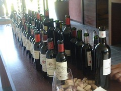 Some of the bottels tasted at Pavie Macquin before
