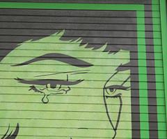 (e_alnak) Tags: streetart green art girl graffiti mural paint vivid spray urbanart streetartist spraypaint publicart aerosol bold ealnak