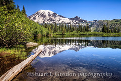 Mt. Rainier Reflection (chasingthelight10) Tags: travel mountains nature reflections photography landscapes events lakes places mountrainiernationalpark vistas washingtonstate wildernesstrails benchlake