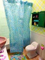 Bathroom 3 (the waverlys) Tags: blue white green scale bathroom miniature doll barbie dio restroom setup 16 rement diorama