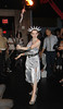 British Burlesque star Katrina Darling performed a racy dance at new downtown venue Demi Monde in New York as a kickoff to the city's Fashion Week