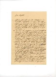 Lettera di Teresa Berra Kramer a Francesco Restelli, 1864