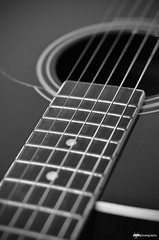 047/365 The Guitar (Razorbacks) Tags: bw white black project photography nikon guitar d acoustic and 365 mm nikkor 18 50 jmk 7000 project365