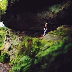Over the Edge (rebeccapalmer.) Tags: nature beauty grass rock moss sandstone natural edge legend castlerock escarpment alderleyedge rebeccapalmer texturebybrookeshaden