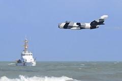 Mig17 and USCG 8335 (JTOcchialini) Tags: team jet heavymetal airshow bone b1 cocoabeach uscg 2011