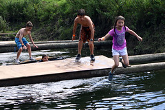 """Lowland Games """"River Knock-Out Challenge"""" (lens buddy) Tags: uk wet w"""