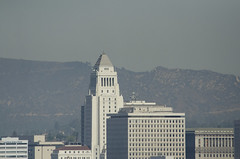 Endeavor flight _1 (mexfoodman) Tags: losangeles downtown space shuttle endeavor lastflight