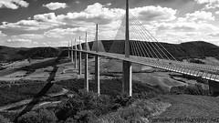 "Millau Viaduct B&W • <a style=""font-size:0.8em;"" href=""http://www.flickr.com/photos/40272831@N07/8015884772/"" target=""_blank"">View on Flickr</a>"