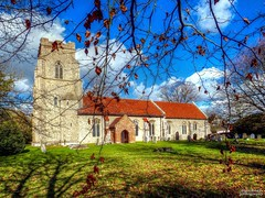 St. Mary the Virgin, Kettlebaston (1) (dogmarten28) Tags: winter england tower church sunshine countryside suffolk village norman nave remote perpendicular pilgrimage 14thcentury chancel hilltop eastanglia 12thcentury stmarythevirgin anglocatholic babergh kettlebaston ernestgeldart dogmarten28 shrineonthehills haroldclearbutler