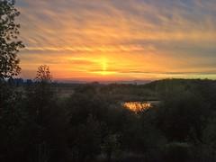 Sunset Column (Jason - Meniscus Images) Tags: autumn sunset sky clouds oregon september hillsboro goldenhour 2012 iphone snapseed
