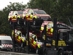 Ford Demonstrator Brand New Ford Ranger Small Fires Units (PFB-999) Tags: uk rescue ford car wagon demo fire ranger motorway 4x4 5 five united small kingdom pickup vehicles northumberland northumbria vehicle and leds service fires essex transporter m11 battenburg unit northbound units demonstrator lightbar ek62ccj