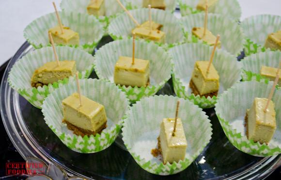 Moshi Moshi's Green Tea Cheesecake - bite-sized servings
