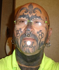 me Aug 18 2012 001 (old_hippie_1954) Tags: gay face tattoo shaved bald tattoos hippie nosering gaypride shavedhead bullring skinhead facetattoo nosepeircing facetattoos scalptattoo gayskinhead facepeircing visibletattoos facialtattoosandpiercings facetattoosandpeircings facepeircings