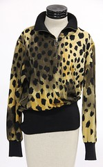 1038. Wool Leopard Print Pullover, Leonard of Paris