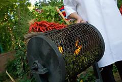 Roasting Green Chile (VisitABQ) Tags: chile newmexico southwest albuquerque abq greenchile