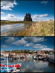 Day 05 - Whitby diptych (Scripter81) Tags: greatbritain trip travel england holiday unitedkingdom britain september settembre viaggio vacanza 2012 inghilterra d700 scripter81