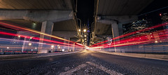 Night Speed (*Imperialis*) Tags: city toronto night speed gardiner expressway