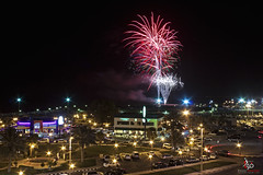 Fireworks in Al Khobar (Fawaz Abdullah) Tags: night stars happy evening waterfront bell fireworks parking eid starbucks taco saudi arabia eastern region cornish ksa  khobar alkhobar     alfitr