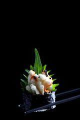 IMG_0039 (Olives for Dinner) Tags: sushi mushrooms vegan sushiroll enoki enokimushroom vegansushi