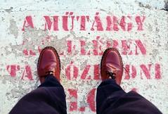 Dr. Martens 1461 Cherry red. (Szergej053) Tags: analog nikon shoes dr martens f55