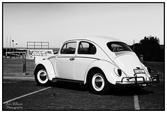 Pushing the Boundary (juliewilliams11) Tags: vw volkswagen blackandwhite vehicle outdoor monochrome canon photoborder car newsouthwales australia vintage classic