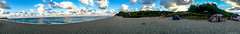 Panorama (@Dpalichorov) Tags: outdoor panorama bqla bulgaria   g samsung s3 neo samsungs3neo nature landscape tent river sea beach mountain camping clouds sand big autofocus