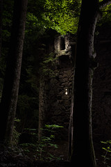 the tower - lightpainting (Ralph Oechsle) Tags: lightpainting malenmitlicht paintwithlight paintingwithlight forest mystic fairytale enchanted adventure medieval mrchen rapunzel