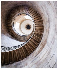 Small spiral... (kevingrieve610) Tags: st pauls cathedral spiral london city fujifilm wideangle flickr wow indoor church stairs round vanishing point summer 2016