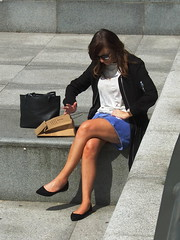 Reading an Invisible Book? (marbowd37) Tags: salford salfordquays mediacity people streetphotography girl