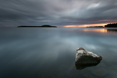 Lower right (- David Olsson -) Tags: mrudden skoghall hammar vrmland sweden lake vnern water rock stone cloudy clouds sunset sundown seascape landscape nature oudoor smooth leefilters bigstopper lenr blackglass ndfilter 06hard gnd grad nikon d800 1635 1635mm 1635vr vr fx davidolsson 2016 august augusti