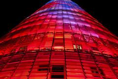 Torre Agbar (Drulix25) Tags: torre agbar barcelona night iluminacin edificio monumento