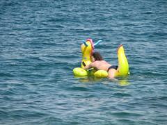 With Intex Happy on the sea (Arambajk) Tags: inflatable happy giant dragon rideon pool toy float blow up sea nafukovac hraka drak moe slovinsko slovenia