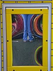 My World is Distorted (BKHagar *Kim*) Tags: bkhagar mirror reflection distorted distortion legs jeans feet shoes