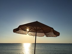 THE BEACH. (PFNKIS) Tags: nofilter ooc sunshine horizon sea mediterranean crete greece season summer sunset sun beach iphoneography iphonography iphone6plus iphone
