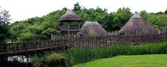Craggaunowen Crannog (AlanJ97) Tags: craggaunowen crannog clare ireland summer 2016 irish feritage past history island building tower walls lake green cloudy
