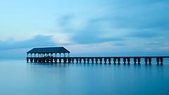 Kauai dawn (Aerindad) Tags: pier sunrise blue seaside infinity