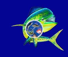 AhabIt_Globe Mockup 2 with blue bk big mahi by Vinnie (AdFor.US) Tags: cousin vinnie