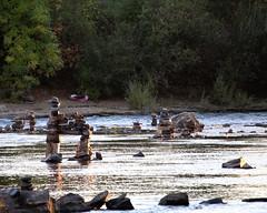Can't Get Enough of the River Sculptures (dsgetch) Tags: willamette willametteriver rocksculpture rocksculptures eugene eugeneoregon eugenespringfield autzenfootbridge