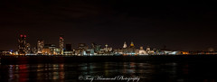 Liverpool Waterfront Panorama (phat5toe) Tags: liverpool waterfront night nightsky merseyside rivermersey lights longexposure panorama nikon d300 cityscape reflections