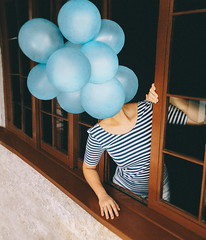 82/365 Adventure Is Out There (itskatrinayu) Tags: balloons windows self portrait conceptual idea manipulation 365 project outdoor natural sunlight