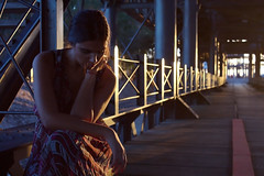 Sole 6 (Jezabel Galn) Tags: modelo model mujer woman huelva ra muelle del tinto luz light jezabel sky canon rflex