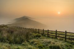 Celestial sunrise (mcumminsphotos) Tags: autumn mamtor mist september trees inversion peakdistrict sunrise